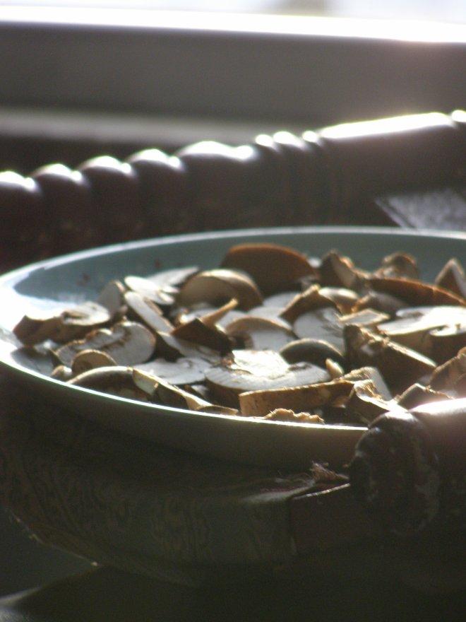 brown Italian mushrooms sitting in the sun to soak up Vit. D