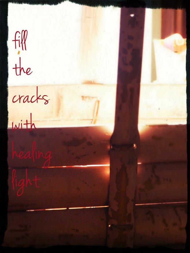 fill the cracks