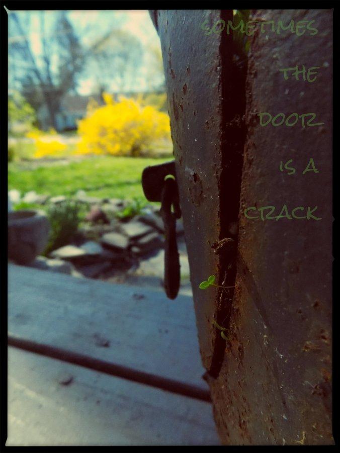 the door is a crack
